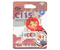 USB Flash 4GB Team C115 USB2.0 White
